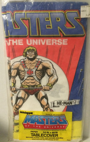 (TAS032032) - Unique Masters of the Universe Paper Tablecover - He-Man, , Party, MOTU, The Angry Spider Vintage Toys & Collectibles Store