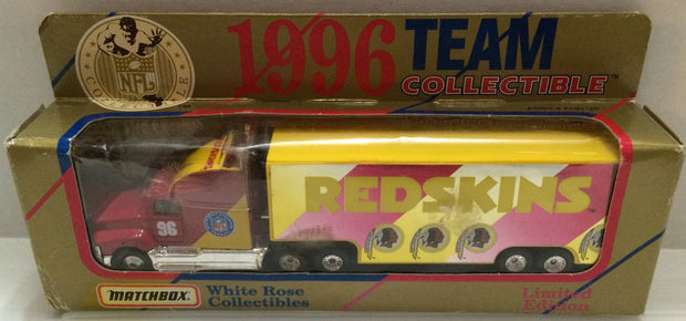 (TAS032053) - 1996 Matchbox NFL Washington Redskins Die-Cast Tractor Trailer, , Trucks & Cars, NFL, The Angry Spider Vintage Toys & Collectibles Store