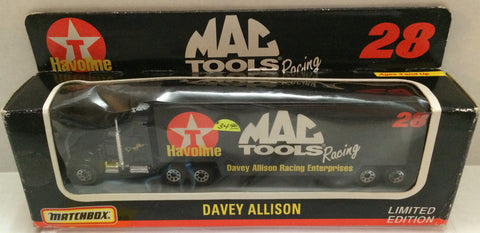(TAS032054) - Matchbox Nascar Tractor Trailer - Davey Allison Havoline #28, , Trucks & Cars, NASCAR, The Angry Spider Vintage Toys & Collectibles Store