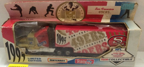 (TAS032056) - 1995 Matchbox Team NFL San Francisco 49ERS Die-Cast Transporters, , Trucks & Cars, NFL, The Angry Spider Vintage Toys & Collectibles Store