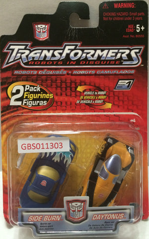 (TAS032129) - Hasbro Transformers 2 Pack - Side Burn & Daytonus, , Action Figure, Transformers, The Angry Spider Vintage Toys & Collectibles Store