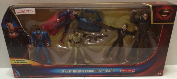 (TAS032132) - DC Comics Superman Man of Steel Kryptonian Invasion 5 Pack Set, , Action Figure, Superman, The Angry Spider Vintage Toys & Collectibles Store
