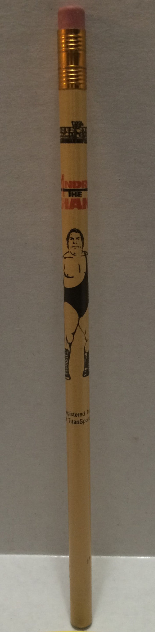 (TAS032139) - 1991 Titan Sports Wrestling SuperStars Pencil - Andre The Giant, , Pencil, Wrestling, The Angry Spider Vintage Toys & Collectibles Store