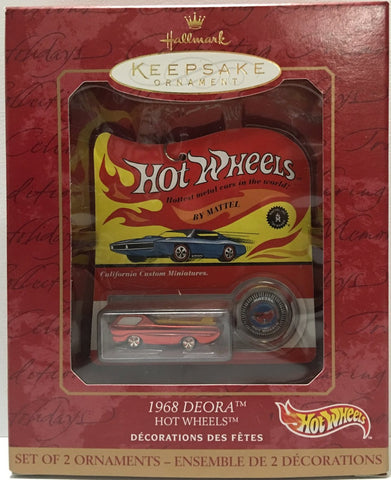 (TAS032161) - 1999 Hallmark Keepsake Ornament Mattel Hot Wheels 1968 Deora, , Ornament, Hallmark, The Angry Spider Vintage Toys & Collectibles Store  - 1