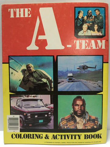 (TAS032167) - 1983 Vintage The A-Team Coloring & Activity Book - B.A. Baracus, , Books, The A-Team, The Angry Spider Vintage Toys & Collectibles Store  - 1