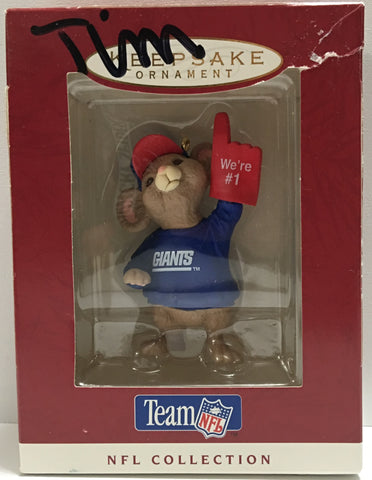 (TAS032183) - 1996 Hallmark Keepsake Ornament - Team NFL N.Y. Giants Mouse, , NFL, Hallmark, The Angry Spider Vintage Toys & Collectibles Store  - 1