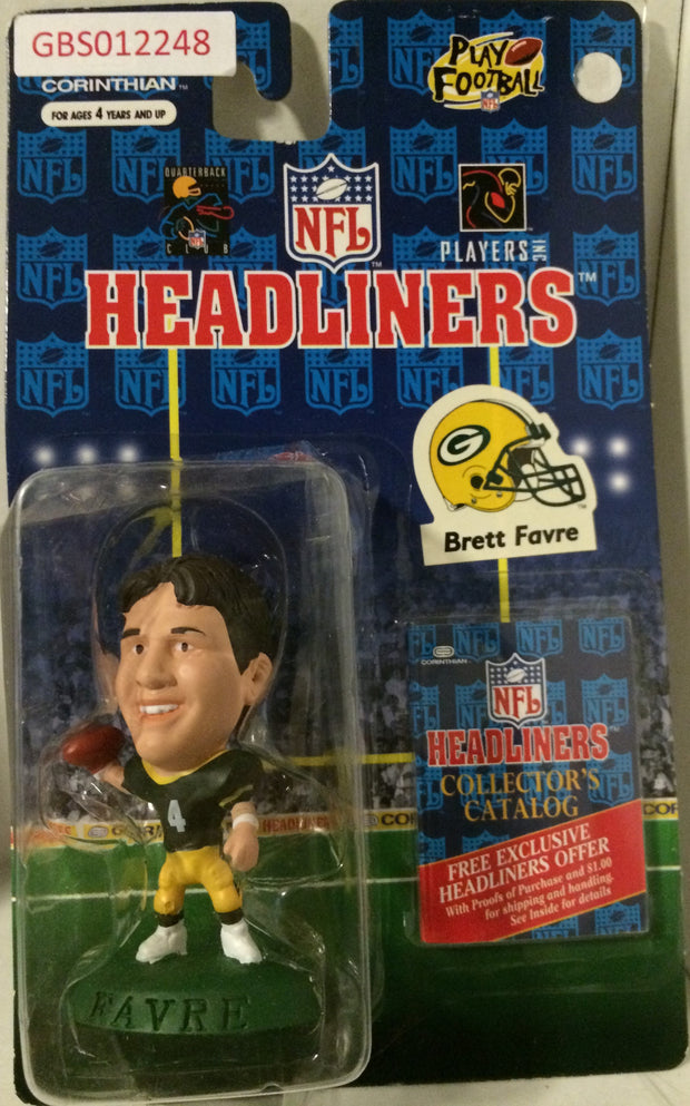 (TAS032191) - 1997 Corinthian NFL Football Headliners Figure - Brett Favre, , Action Figure, NFL, The Angry Spider Vintage Toys & Collectibles Store