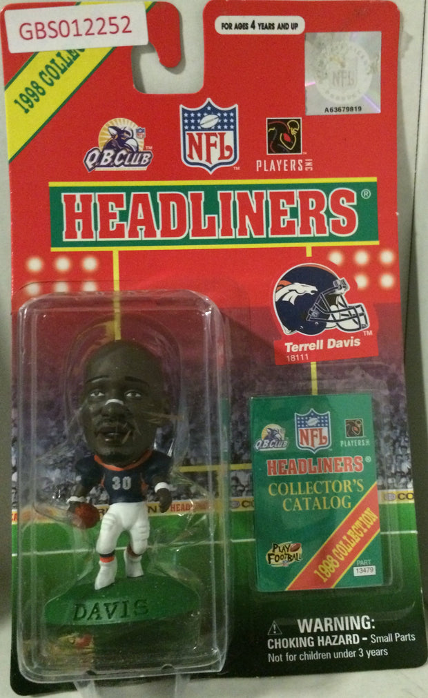 (TAS032195) - 1998 Corinthian NFL Football Headliners Figure - Terrell Davis, , Action Figure, NFL, The Angry Spider Vintage Toys & Collectibles Store