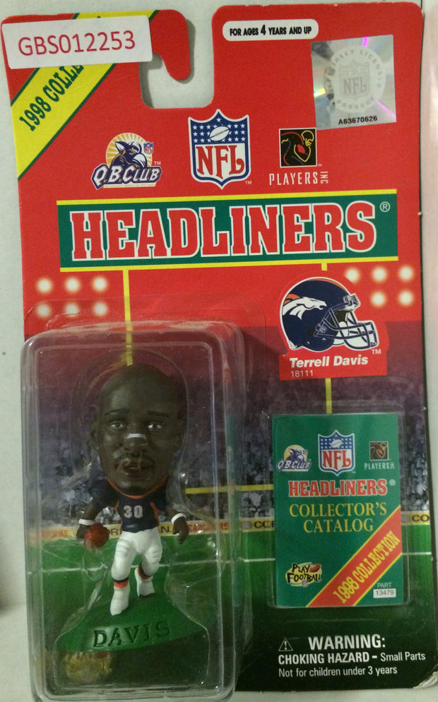 (TAS032197) - 1998 Corinthian NFL Football Headliners Figure - Terrell Davis, , Action Figure, NFL, The Angry Spider Vintage Toys & Collectibles Store