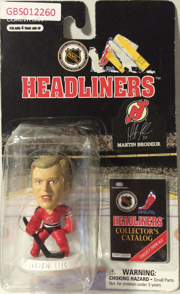 (TAS032202) - 1997 Corinthian NHL Hockey Headliners Figure - Martin Brodeur, , Action Figure, NHL, The Angry Spider Vintage Toys & Collectibles Store