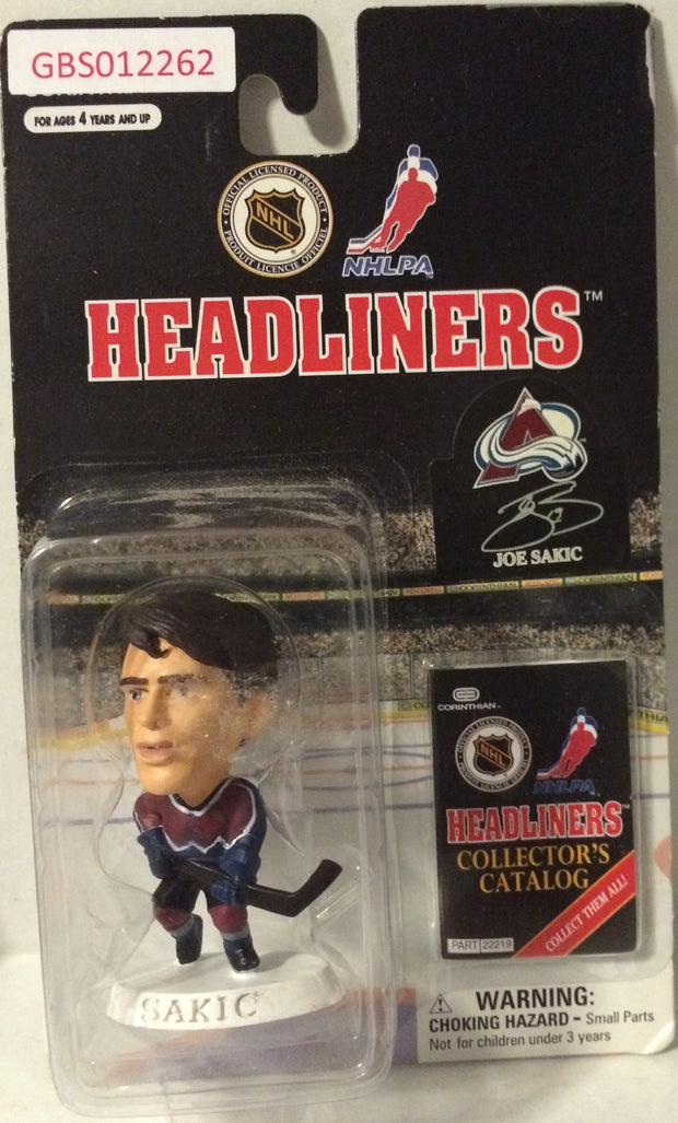 (TAS032204) - 1997 Corinthian NHL Hockey Headliners Figure - Joe Sakic, , Action Figure, NHL, The Angry Spider Vintage Toys & Collectibles Store