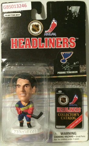 (TAS032207) - 1997 Corinthian NHL Hockey Headliners Figure - Pierre Turgeon, , Action Figure, NHL, The Angry Spider Vintage Toys & Collectibles Store