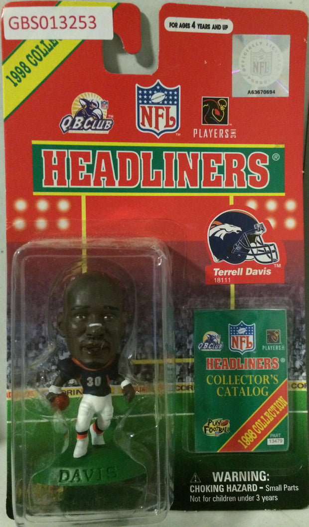 (TAS032214) - 1998 Corinthian NFL Football Headliners Figure - Terrell Davis, , Action Figure, NFL, The Angry Spider Vintage Toys & Collectibles Store