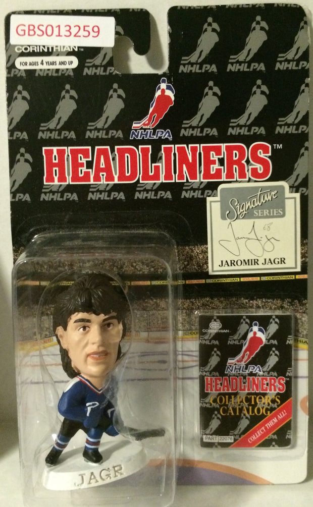 (TAS032220) - 1996 Corinthian NHL Hockey Headliners Figure - Jaromir Jagr, , Action Figure, NHL, The Angry Spider Vintage Toys & Collectibles Store