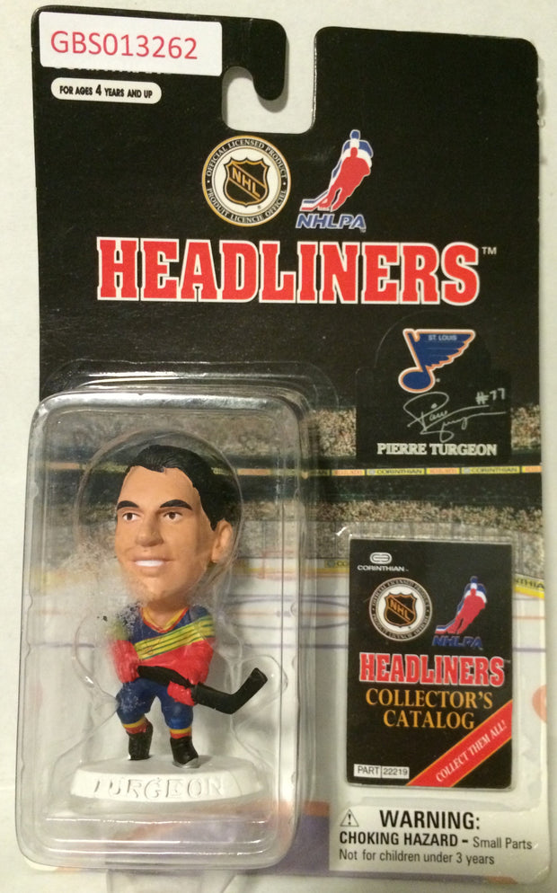 (TAS032223) - 1997 Corinthian NHL Hockey Headliners Figure - Pierre Turgeon, , Action Figure, NHL, The Angry Spider Vintage Toys & Collectibles Store