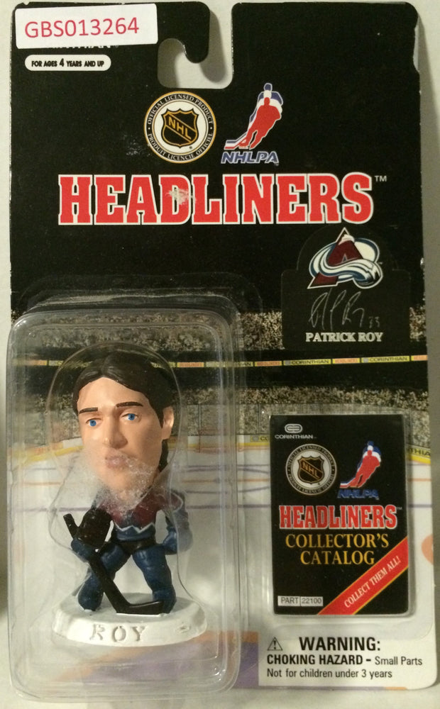 (TAS032225) - 1997 Corinthian NHL Hockey Headliners Figure - Patrick Roy, , Action Figure, NHL, The Angry Spider Vintage Toys & Collectibles Store