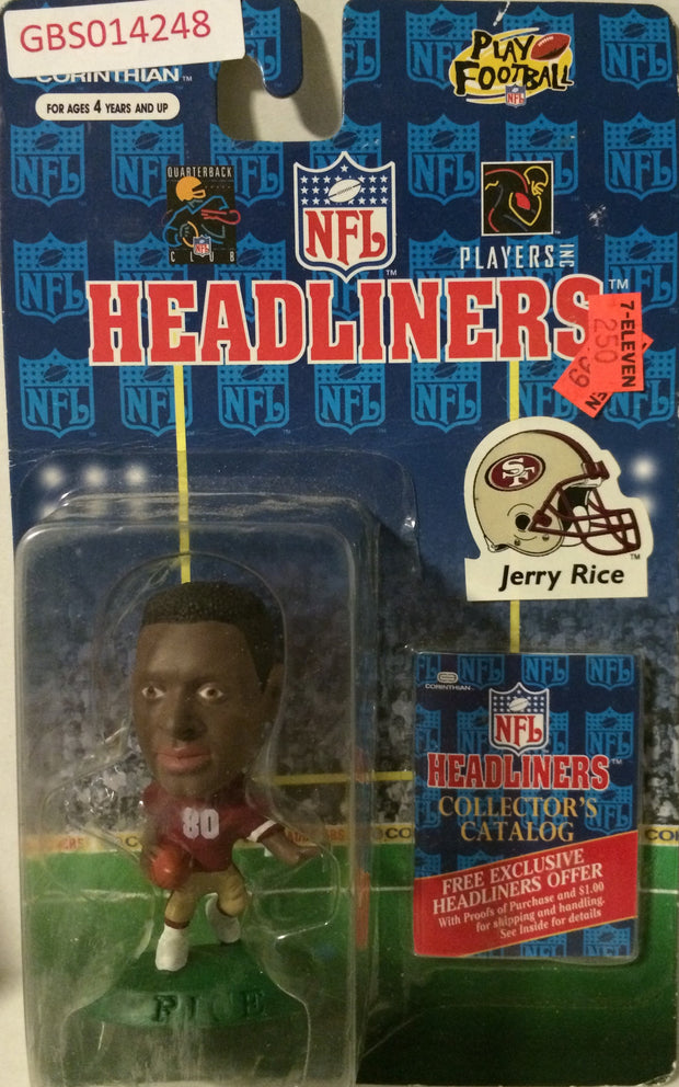 (TAS032228) - 1996 Corinthian NFL Football Headliners Figure - Jerry Rice, , Action Figure, NFL, The Angry Spider Vintage Toys & Collectibles Store