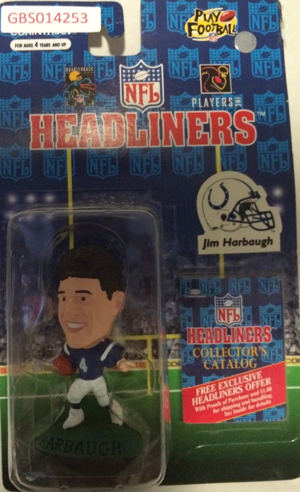 (TAS032232) - 1997 Corinthian NFL Football Headliners Figure - Jim Harbaugh, , Action Figure, NFL, The Angry Spider Vintage Toys & Collectibles Store