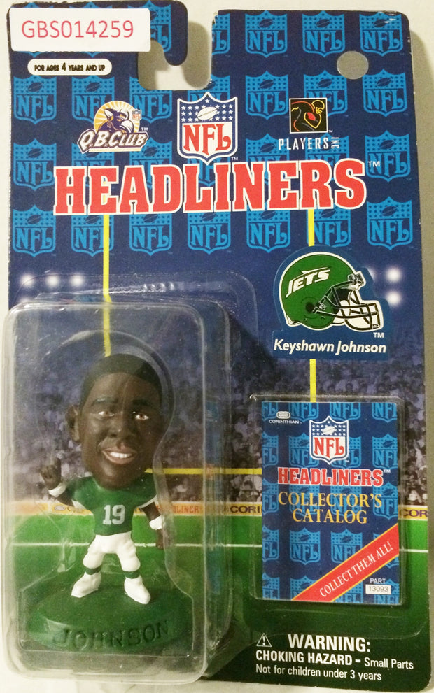 (TAS032238) - 1996 Corinthian NFL Football Headliners Figure - Keyshawn Johnson, , Action Figure, NFL, The Angry Spider Vintage Toys & Collectibles Store