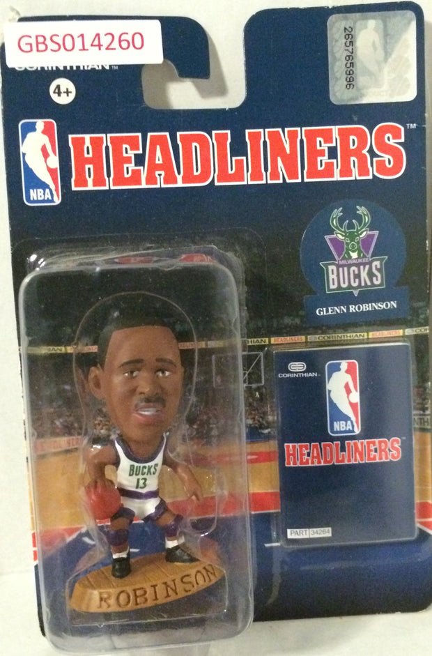 (TAS032239) - 1996 Corinthian NBA Basketball Headliners Figure - Glenn Robinson, , Action Figure, NBA, The Angry Spider Vintage Toys & Collectibles Store