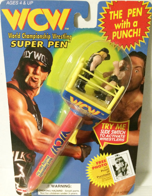 (TAS032244) - 1997 Remco WCW Wrestling Super Pen - Hollywood Hogan & Giant, , Pen, Wrestling, The Angry Spider Vintage Toys & Collectibles Store