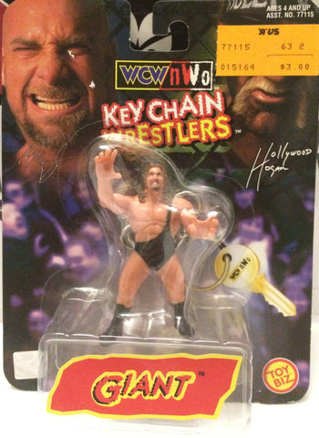 (TAS032254) - 1998 Toy Biz WCW Key Chain Wrestlers - Giant, , Keychain, Wrestling, The Angry Spider Vintage Toys & Collectibles Store