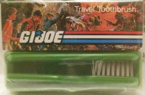 (TAS032263) - 1986 Hasbro G.I. Joe Travel Toothbrush Set, , Bath, G.I. Joe, The Angry Spider Vintage Toys & Collectibles Store