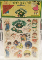 (TAS032264) - 1983 Diamond Toymakers Cabbage Patch Kids Puffy Stick-Ons, , Stickers, Cabbage Patch Kids, The Angry Spider Vintage Toys & Collectibles Store
