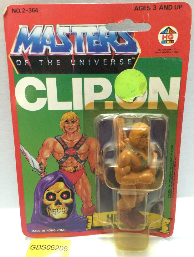 (TAS032281) - 1984 HG Toys Masters Of The Universe He-Man Clip-On Figure, , Action Figure, MOTU, The Angry Spider Vintage Toys & Collectibles Store