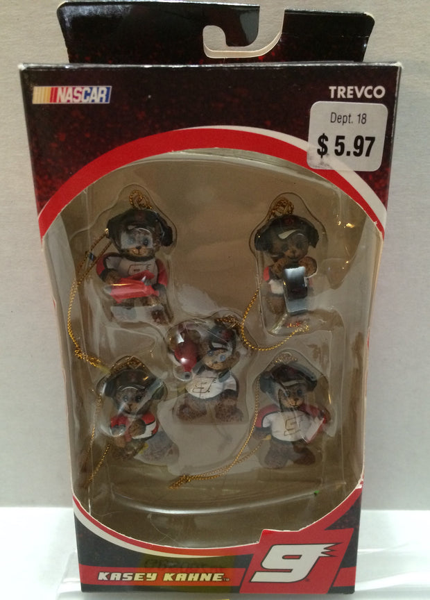 (TAS032286) - Trevco Nascar Racing Holiday Christmas Ornament - Kasey Kahne #9, , Ornament, Nascar, The Angry Spider Vintage Toys & Collectibles Store