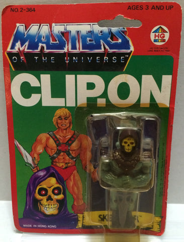 (TAS032289) - 1984 HG Toys Masters Of The Universe He-Man Skeletor Clip-On, , Action Figure, MOTU, The Angry Spider Vintage Toys & Collectibles Store