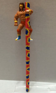 (TAS032294) - 1999 Titan Sports WWF WWE LJN Pencil Topper Ultimate Warrior, , Pencil, Wrestling, The Angry Spider Vintage Toys & Collectibles Store