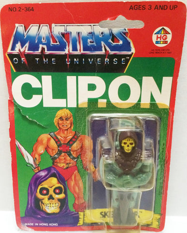 (TAS032295) - 1984 HG Toys Masters Of The Universe He-Man Skeletor Clip-On, , Action Figure, MOTU, The Angry Spider Vintage Toys & Collectibles Store