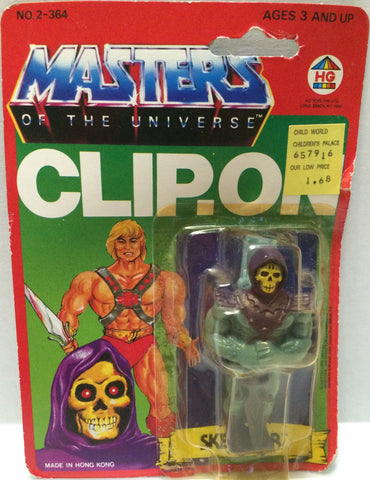 (TAS032297) - 1984 HG Toys Masters Of The Universe He-Man Skeletor Clip-On, , Action Figure, MOTU, The Angry Spider Vintage Toys & Collectibles Store