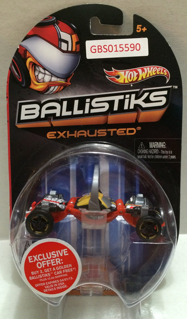 (TAS032306) - 2013 Mattel Hot Wheels Ballistiks Exhausted Toy Car, , Trucks & Cars, Hot Wheels, The Angry Spider Vintage Toys & Collectibles Store