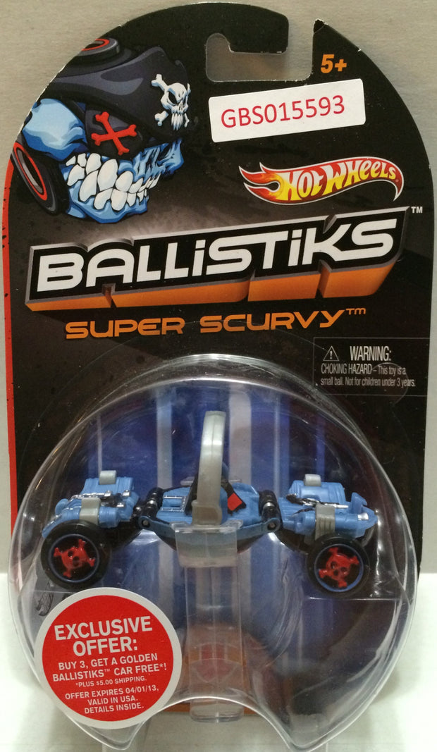 (TAS032308) - 2013 Mattel Hot Wheels Ballistiks Super Scurvy Toy Car, , Trucks & Cars, Hot Wheels, The Angry Spider Vintage Toys & Collectibles Store