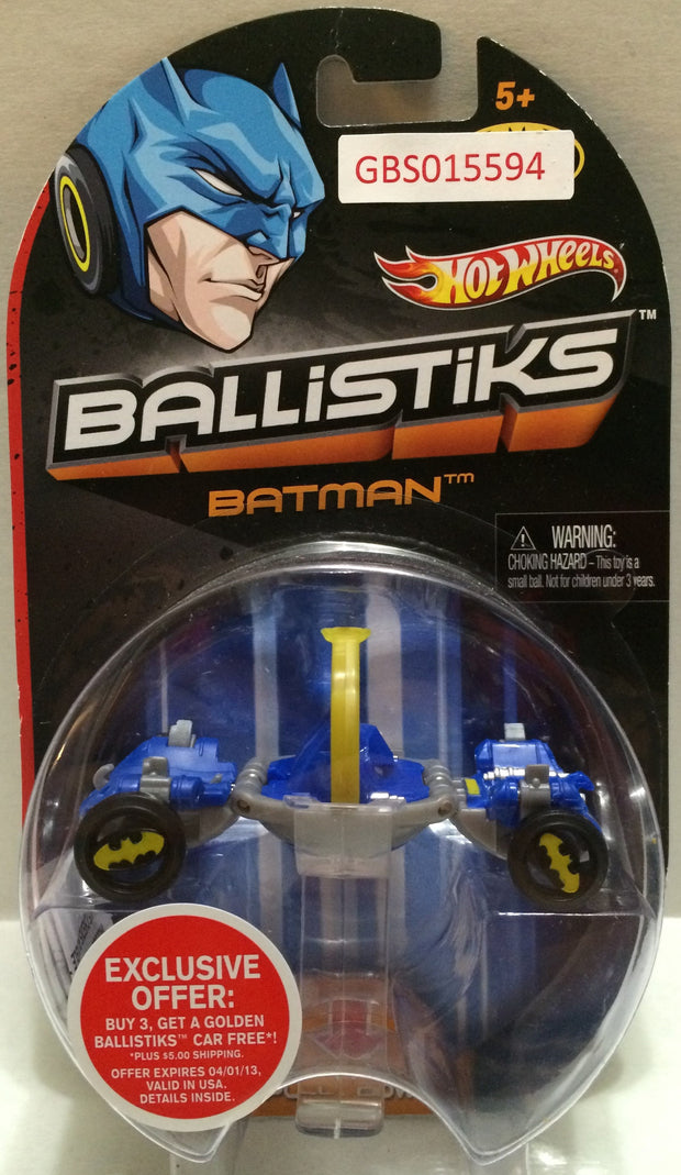 (TAS032309) - 2013 Mattel Hot Wheels Ballistiks Batman Toy Car, , Trucks & Cars, Hot Wheels, The Angry Spider Vintage Toys & Collectibles Store