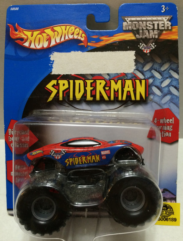 (TAS032314) - Mattel Hot Wheels Monster Jam Spider-Man Die-Cast Car, , Trucks & Cars, Hot Wheels, The Angry Spider Vintage Toys & Collectibles Store