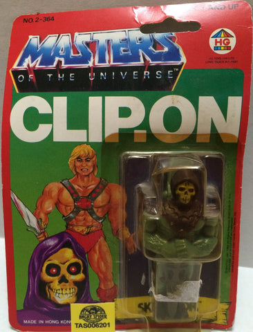 (TAS032315) - 1984 HG Toys Masters Of The Universe He-Man Skeletor Clip-On, , Trucks & Cars, MOTU, The Angry Spider Vintage Toys & Collectibles Store