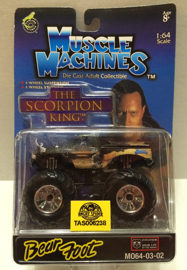 (TAS032316) - Muscle Machines Die-Cast - The Scorpion King - The Rock Bear  Foot