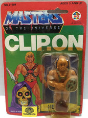 (TAS032320) - 1984 HG Toys Masters Of The Universe He-Man Clip-On Figure, , Action Figure, MOTU, The Angry Spider Vintage Toys & Collectibles Store