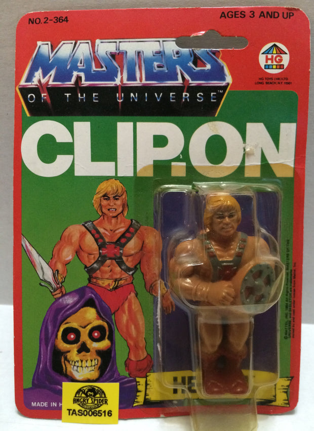 (TAS032323) - 1984 HG Toys Masters Of The Universe He-Man Clip-On Figure, , Action Figure, MOTU, The Angry Spider Vintage Toys & Collectibles Store