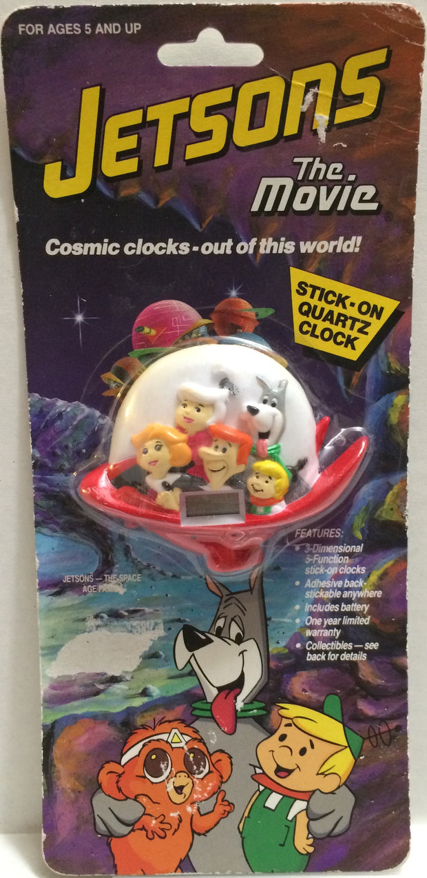 (TAS032329) - 1990 Universal Jetsons The Movie Stick-On Quartz Clock, , Clocks, Universal, The Angry Spider Vintage Toys & Collectibles Store