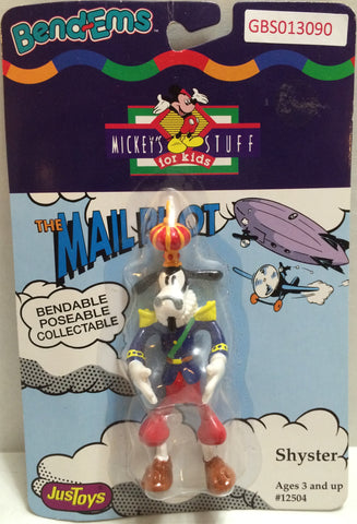 (TAS032334) - Just Toys Bend-ems Mickey's Stuff for Kids The Mail Pilot Shyster, , Action Figure, Disney, The Angry Spider Vintage Toys & Collectibles Store
