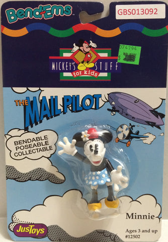 (TAS032336) - Just Toys Bend-ems Mickey's Stuff for Kids - The Mail Pilot Minnie, , Action Figure, Disney, The Angry Spider Vintage Toys & Collectibles Store