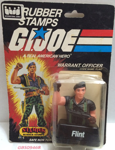 (TAS032353) - 1985 Stampos G.I. Joe Rubber Stamps - Warrant Officer Flint, , Stamper, G.I. Joe, The Angry Spider Vintage Toys & Collectibles Store