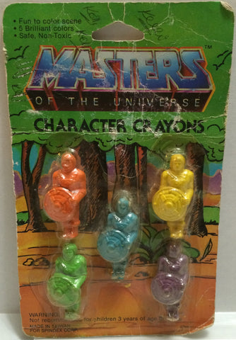 (TAS032354) - 1984 Mattel Masters of the Universe Character Crayons - 5 Pack, , Crayons, MOTU, The Angry Spider Vintage Toys & Collectibles Store