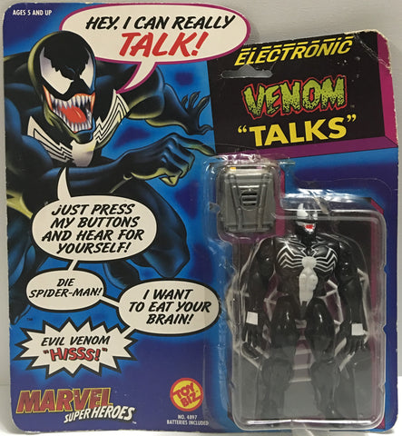 "(TAS032367) - 1991 Toy Biz Marvel Super Heroes - Electronic Venom ""Talks"", , Action Figure, Marvel, The Angry Spider Vintage Toys & Collectibles Store  - 1"