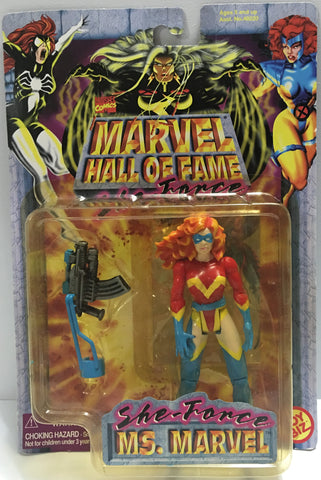 (TAS032373) - 1997 Toy Biz Marvel Hall Of Fame - She-Force Ms. Marvel, , Action Figure, Marvel, The Angry Spider Vintage Toys & Collectibles Store  - 1