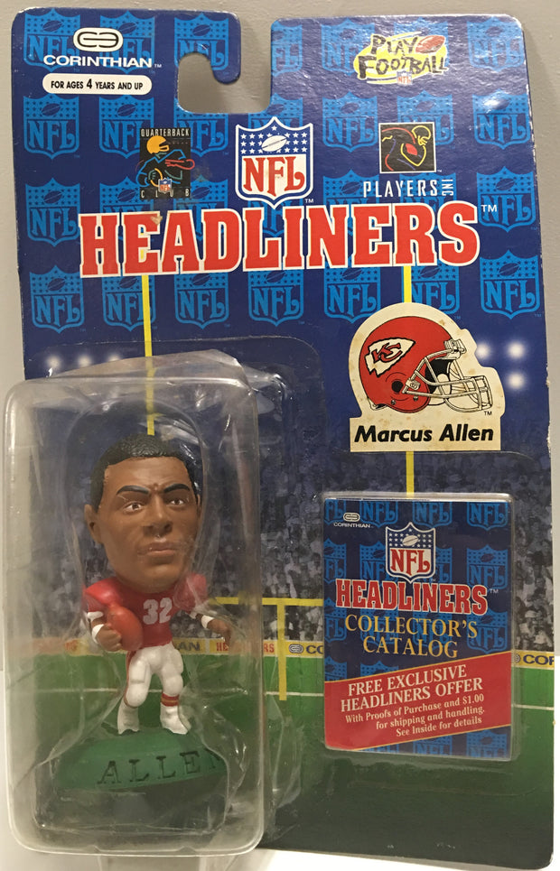 (TAS032379) - 1996 Corinthian NFL Headliners Kansas City Chiefs - Marcus Allen, , Action Figure, NFL, The Angry Spider Vintage Toys & Collectibles Store  - 1